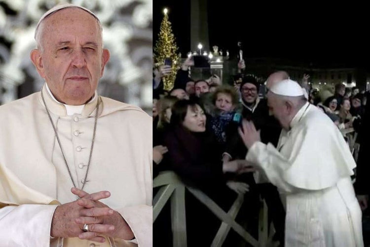 Watch an indignant Pope Francis smack woman