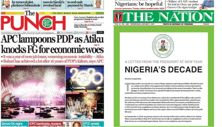 National dailies get advertorial from presidency but Punch Newspaper conspicuously missing