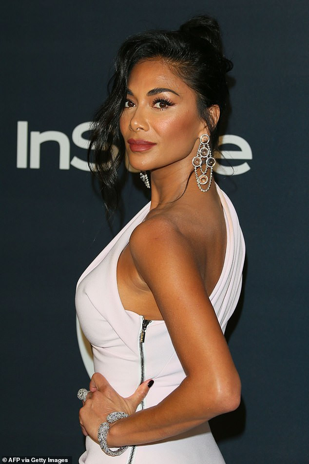 Singer Nicole Scherzinger goes red carpet official with beau Thom Evans at InStyle after-party (Photos)