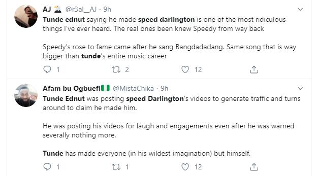 Speed Darlington threatens to tie Tunde Ednut
