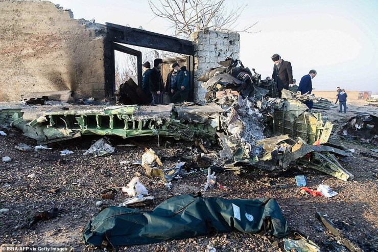 Ukrainian plane crash that killed 176 people may have been accidentally shot down by nervous Iranian airforce pilots