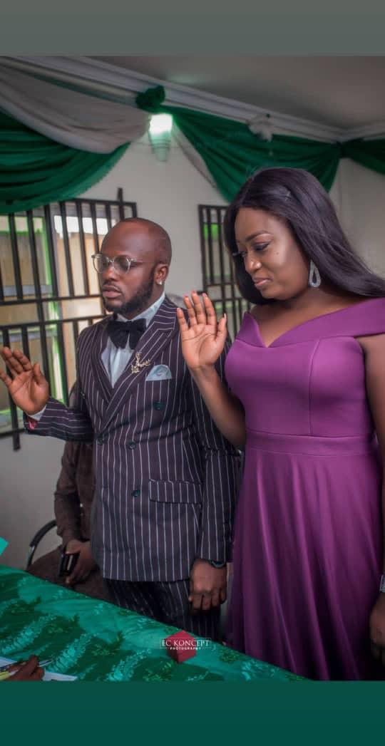 Photos from comedian, I Go Save court wedding