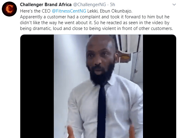 Twitter users defend gym instructor shouting at a female client for allegedly bullying him in his office (video)
