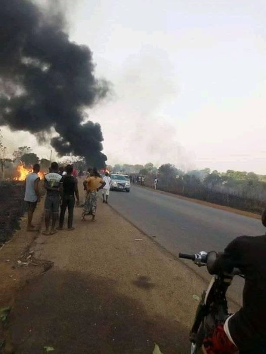 Many feared dead as tanker explodes in Benue (photos)