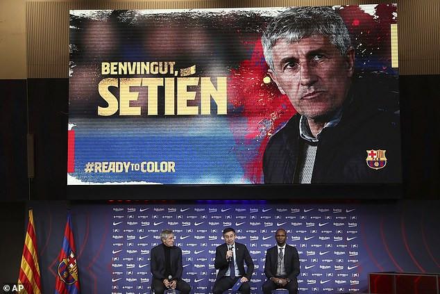 Quique Setien unveiled as new coach of Barcelona after Ernesto Valverde sacking (Photos)