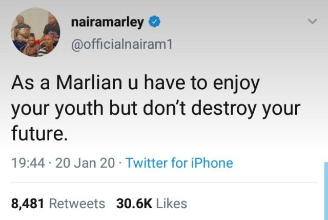 Naira Marley sends message of warning to all
