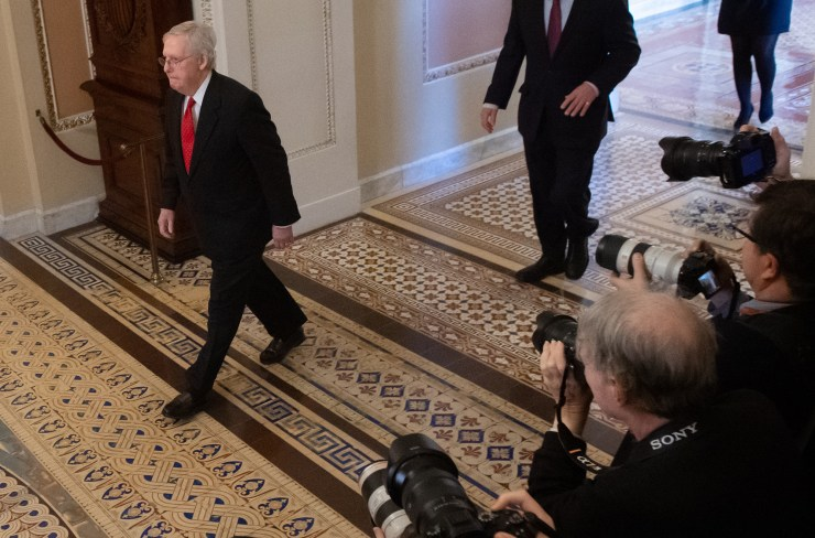 Photos from the historic Trump impeachment trial currently ongoing at the senate