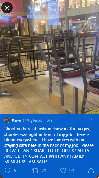 Shooting at Fashion Show Mall leaves 3 people injured (photos/video)