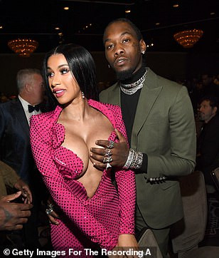 Offset grabs wife Cardi B