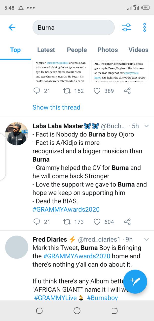 Nigerians react to Burna boy