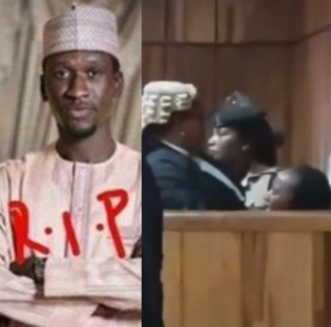 Moment Maryam Sanda broke down in tears after she was sentenced to death for stabbing her husband, Bilyaminu Bello to death in 2017 (video)