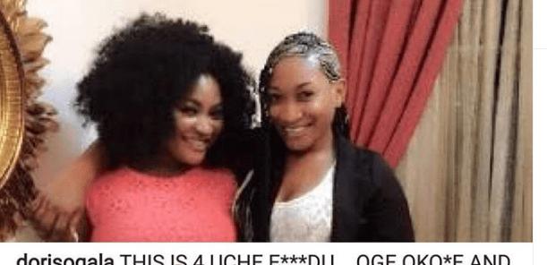 Actress Doris Ogala shares screenshots of messages revealing Oge Okoye has allegedly been secretly sleeping with ex-husband of Uche Elendu