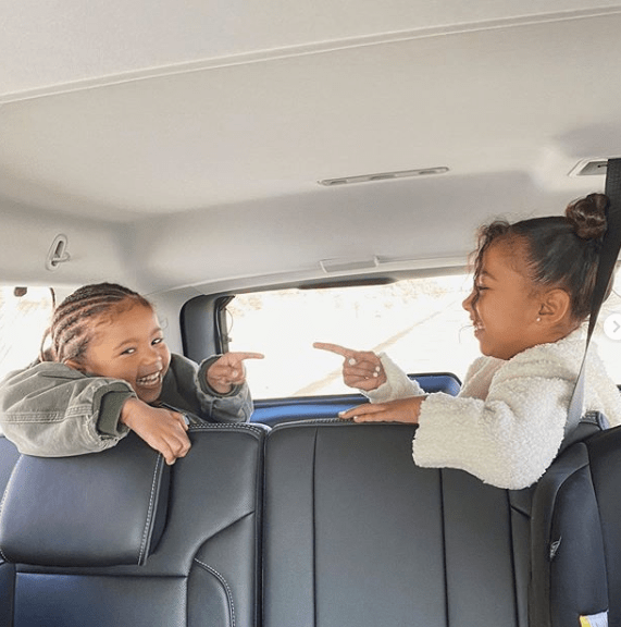 Kim Kardashian reveals North and Saint West have gotten over their sibling rivalry phase as she releases new photos of them getting along