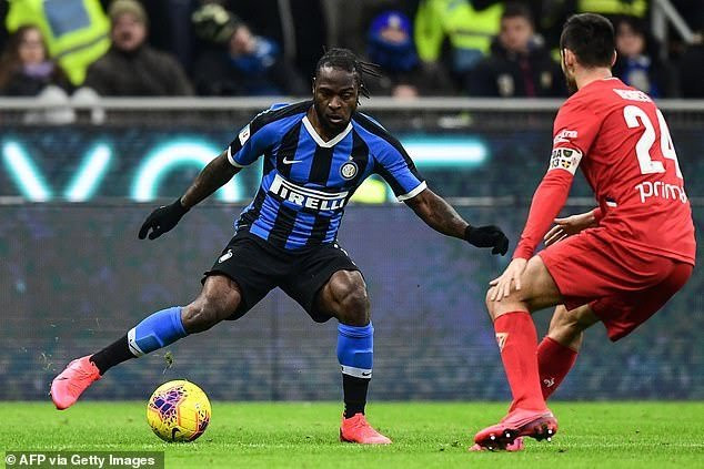 Over 50,000 fans watch Victor Moses make winning debut with new club Inter Milan