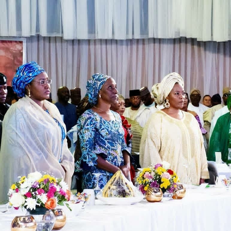 Photos: Aisha Buhari, Patience Jonathan pictured at a function in Abuja