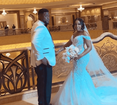 #Adekani: Davido's brother, Adewale Adeleke and Kani hold their white wedding in Abu Dhabi (Photos/Videos)