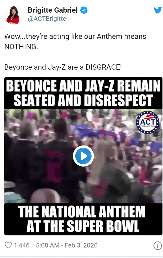 Twitter users blast Jay-z and Beyonce  after they were pictured sitting down during national anthem at Super Bowl