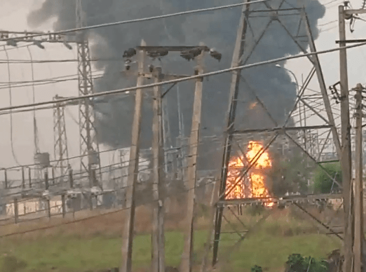 Fire outbreak at IBEDC power station in Ibadan