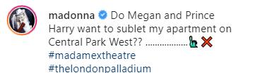 Madonna propose de sous-louer son appartement à New York au prince Harry et Meghan Markle pour qu'ils ne