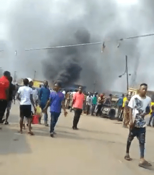 Riot in Iyana Ipaja as okada riders and police clash over okada ban