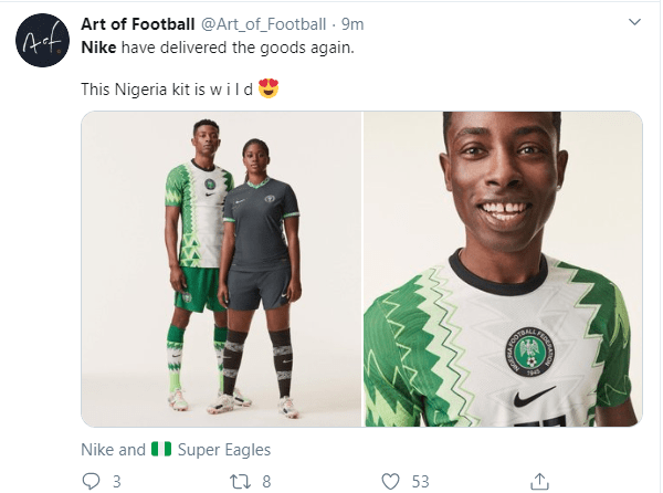 Nigerians applaud Nike as new Super Eagles jersey inspired by