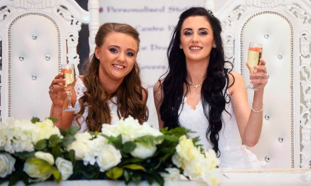 Two women make history as the first same-sex couple to get married in Northern Ireland (Photos)