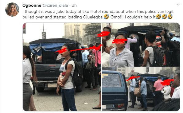 Police van allegedly used as commercial vehicle in Lagos