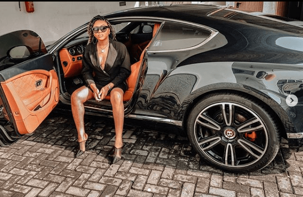 Stephanie Coker gets a Bentley as 'push current' (photographs)