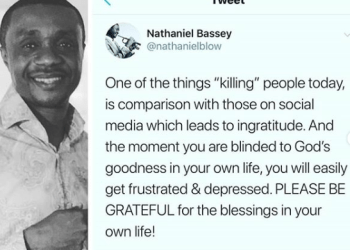 Comparison with those on social media is one of the things killing people today - Nathaniel Bassey