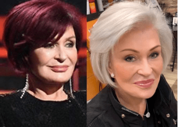 TV personality Sharon Osbourne trades her iconic red hair for '100% white' after 18-years (images)