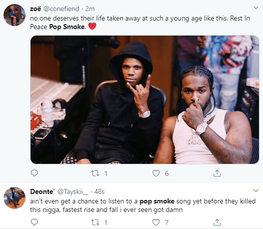 US Rapper Pop Smoke shot dead in his home shortly after he shared a tweet