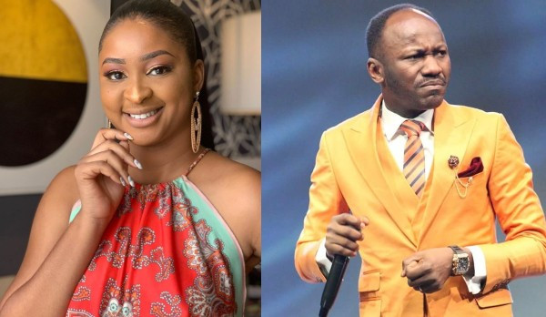 Your side piece is one of us - Actress Etinosa slams Apostle Suleman over his recent comment about bleaching