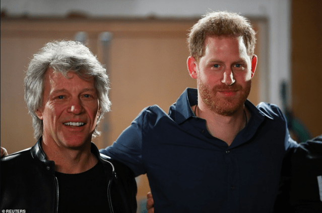 Prince Harry sings with Jon Bon Jovi in the studio to launch charity single for Invictus Games then recreates The Beatles