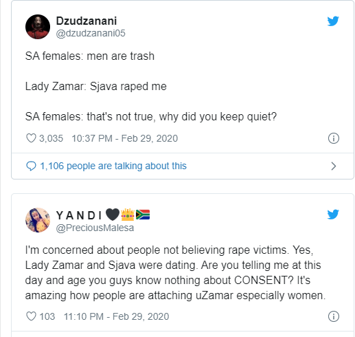 He wore a condom and had sex with me, his big penis was painful - Singer, Lady Zamar says as she opens a rape case against ex-boyfriend Sjava