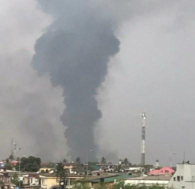 Breaking: Pipeline explosion rocks Abule Sabo in Lagos (videos)