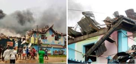 Mother shares photos of her son's primary school destroyed by the Lagos explosion