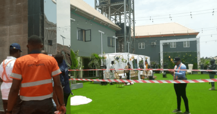 Lagos state govt begins enforcement of ban on public gathering, shuts down surprise party and seals off two event centers (video/photos)