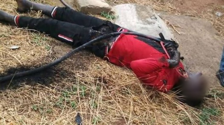 Suspected cable thief electrocuted while vandalising transformer in Enugu (graphic photos)