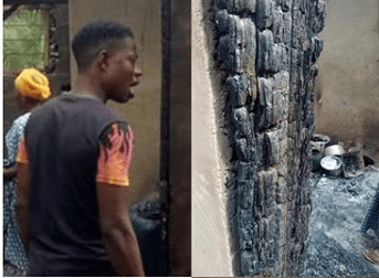 Second wife sets husband?s house ablaze after he married a new wife (Photos)