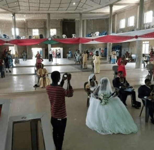 See how a couple and their guests observed social distancing at their wedding in Benue (photo)