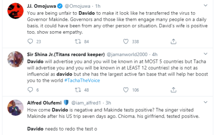 Davido should run a coronavirus test again - Nigerians react after Governor Makinde tested positive for the virus