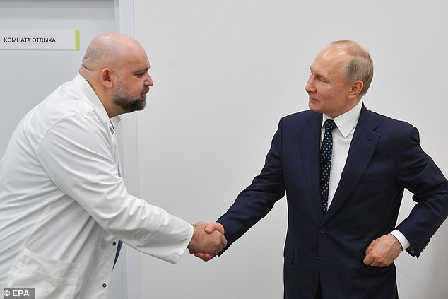 Major scare for President Putin as Russian physician he shook hands with a week ago tests positive for Coronavirus (Photographs)