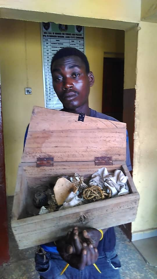 Suspected ritualist arrested in Lagos (photos)