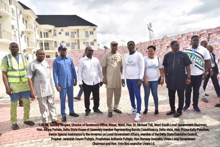 COVID-19: Jeremiah Omoto Fufeyin Foundation donates relief materials worth 25million to Delta Govt