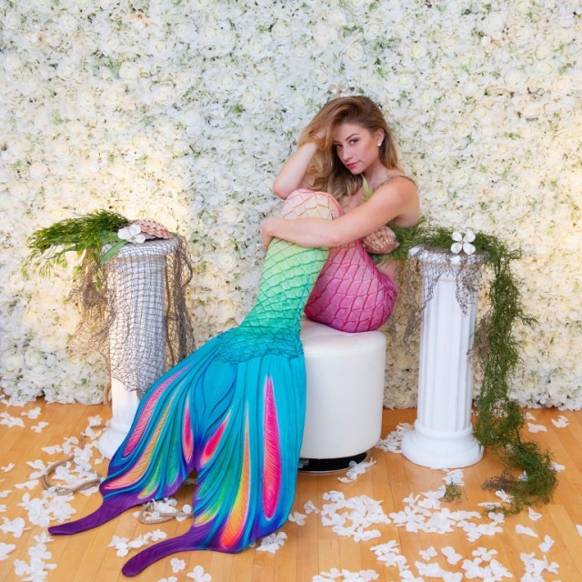 Student spends $3,000 to become real-life mermaid after being inspired by childhood meeting with Disney princess Ariel (photos/video)