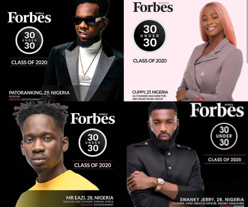"""What a Bulshit list"" Huddah Monroe dismisses Forbes Africa 30 under 30 list consisting of DJ Cuppy, Swanky Jerry, Patoranking and Mr Eazi"