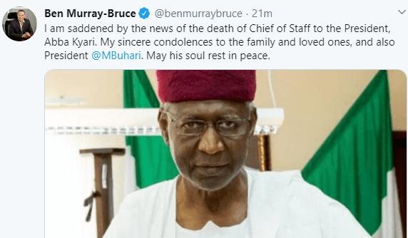Gov Obaseki, Keyamo, Dino Melaye, Ben Bruce, others react to the death of President Buhari
