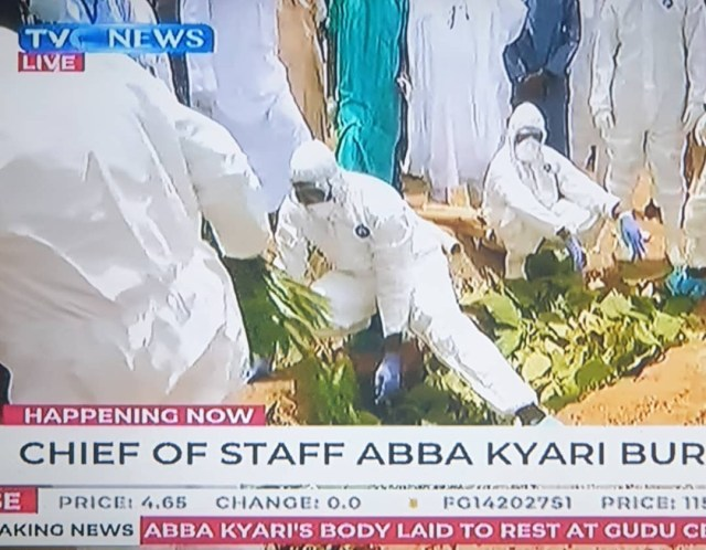 Former Chief of Staff to President Buhari, Abba Kyari, laid to rest (photos/Videos)