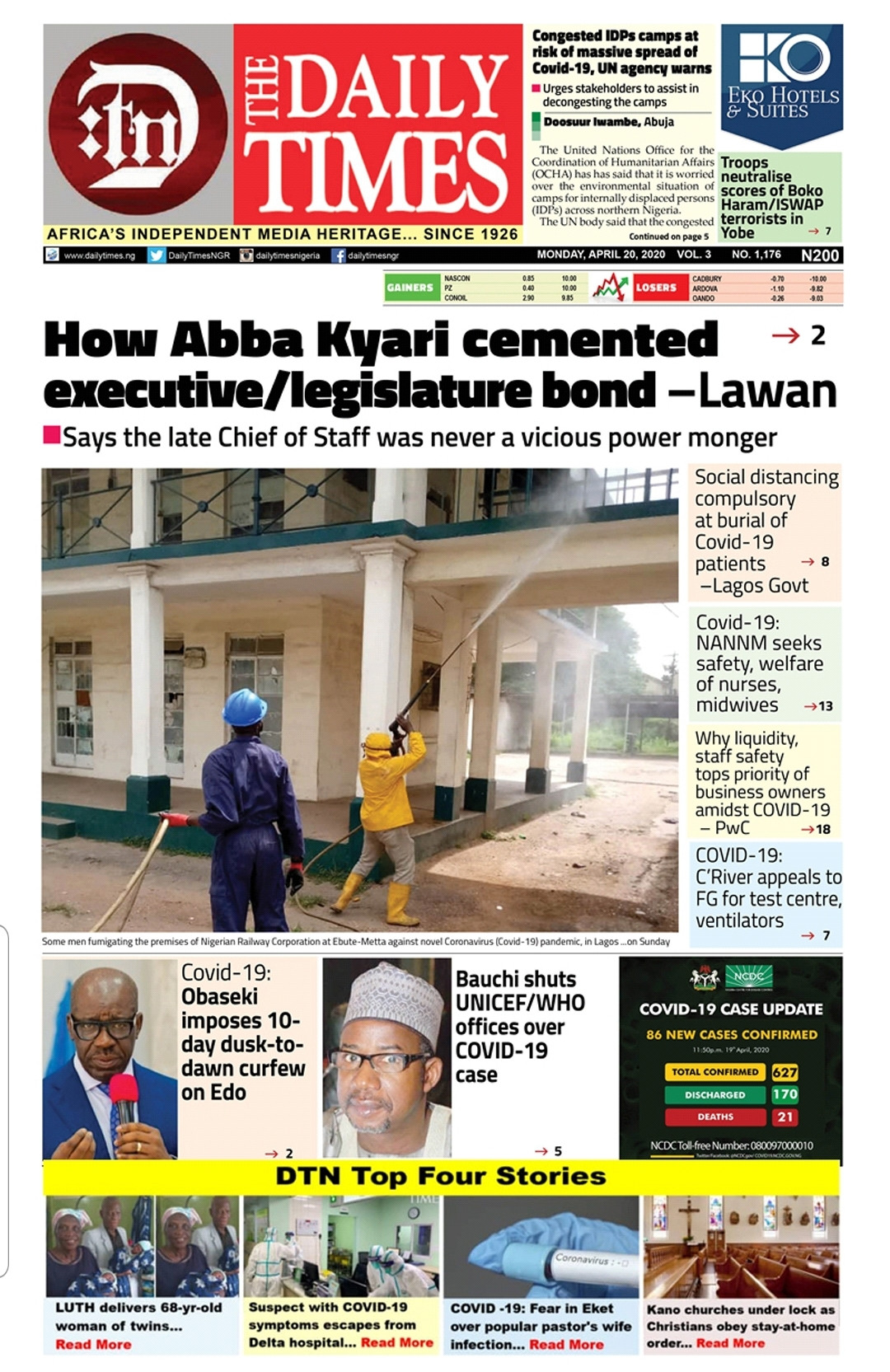 Daily Times Nigeria (DTN) Top 4 Stories