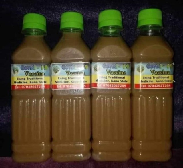 NCDC shares photo of the fake COVID19 vaccine some Kano state residents are ingesting